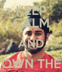 Poster: KEEP CALM AND OWN THE WORLD