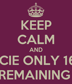 Poster: KEEP CALM AND PACIENCIE ONLY 16 DAYS  REMAINING
