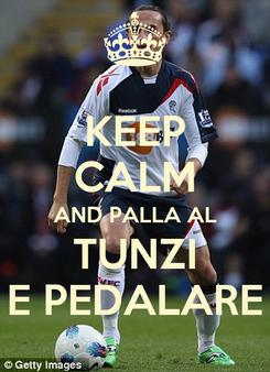 Poster: KEEP CALM AND PALLA AL TUNZI E PEDALARE
