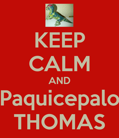 Poster: KEEP CALM AND Paquicepalo THOMAS