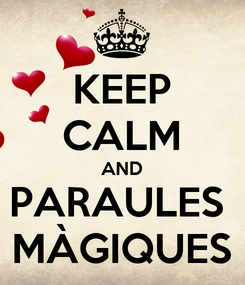 Poster: KEEP CALM AND PARAULES  MÀGIQUES