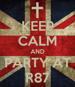 Poster: KEEP CALM AND PARTY AT R87