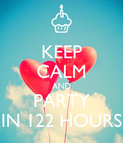 Poster: KEEP CALM AND PARTY IN 122 HOURS