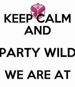 Poster: KEEP CALM AND PARTY WILD WE ARE AT