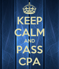 Poster: KEEP CALM AND PASS CPA