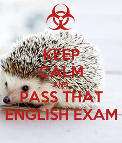 Poster: KEEP CALM AND PASS THAT ENGLISH EXAM