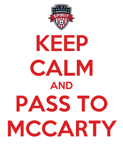 Poster: KEEP CALM AND PASS TO MCCARTY