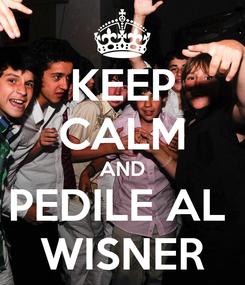 Poster: KEEP CALM AND PEDILE AL  WISNER