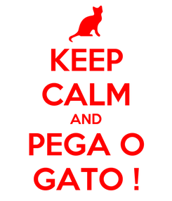 Poster: KEEP CALM AND PEGA O GATO !