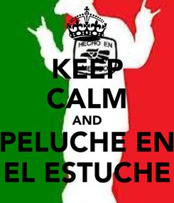 Poster: KEEP CALM AND PELUCHE EN EL ESTUCHE