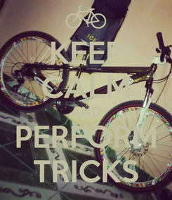 Poster: KEEP CALM AND PERFORM TRICKS