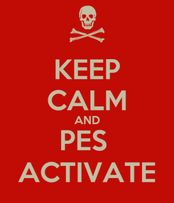 Poster: KEEP CALM AND PES  ACTIVATE