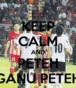 Poster: KEEP CALM AND PETEH GANU PETEH