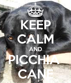 Poster: KEEP CALM AND PICCHIA  CANE