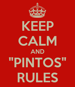 "Poster: KEEP CALM AND ""PINTOS"" RULES"