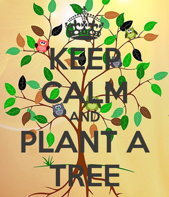 Poster: KEEP CALM AND PLANT A TREE