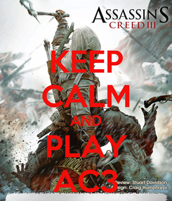 Poster: KEEP CALM AND PLAY AC3