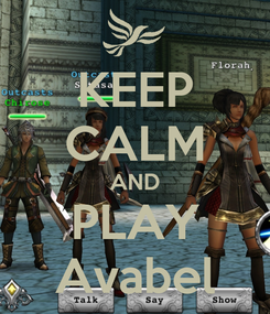 Poster: KEEP CALM AND PLAY Avabel