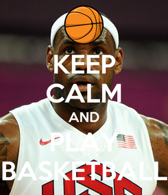 Poster: KEEP CALM AND PLAY BASKETBALL