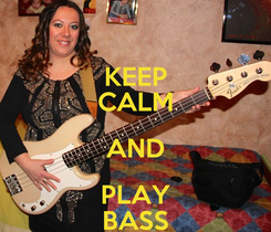 Poster: KEEP CALM AND PLAY BASS