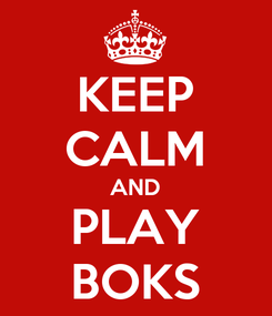 Poster: KEEP CALM AND PLAY BOKS