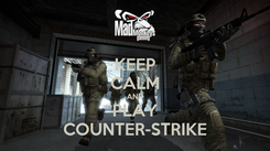 Poster: KEEP CALM AND PLAY COUNTER-STRIKE