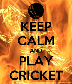 Poster: KEEP CALM AND PLAY CRICKET