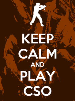Poster: KEEP CALM AND PLAY CSO