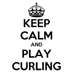 Poster: KEEP CALM AND PLAY CURLING
