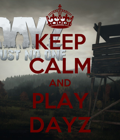 Poster: KEEP CALM AND PLAY DAYZ