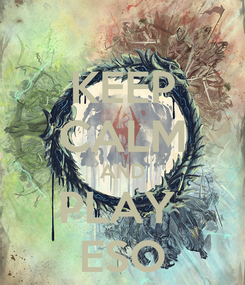 Poster: KEEP CALM AND PLAY  ESO