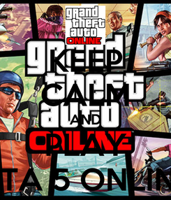 Poster: KEEP CALM AND PLAY GTA 5 ONLINE
