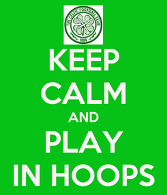 Poster: KEEP CALM AND PLAY IN HOOPS