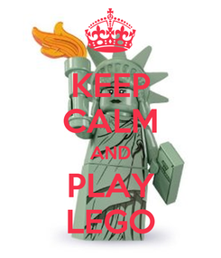 Poster: KEEP CALM AND PLAY LEGO