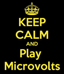 Poster: KEEP CALM AND Play  Microvolts