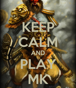 Poster: KEEP CALM AND PLAY MK