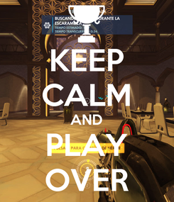 Poster: KEEP CALM AND PLAY OVER