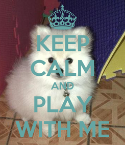 Poster: KEEP CALM AND PLAY WITH ME