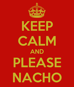 Poster: KEEP CALM AND PLEASE NACHO