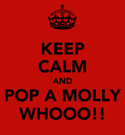 Poster: KEEP CALM AND POP A MOLLY WHOOO!!