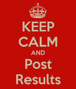 Poster: KEEP CALM AND Post Results