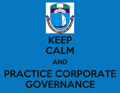 Poster: KEEP CALM AND PRACTICE CORPORATE GOVERNANCE