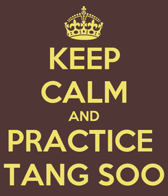 Poster: KEEP CALM AND PRACTICE  TANG SOO