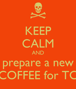 Poster: KEEP CALM AND prepare a new COFFEE for TC