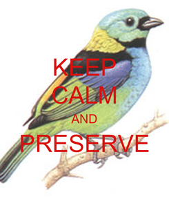 Poster: KEEP CALM AND PRESERVE