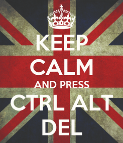 Poster: KEEP CALM AND PRESS CTRL ALT DEL