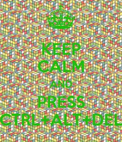 Poster: KEEP CALM AND PRESS CTRL+ALT+DEL