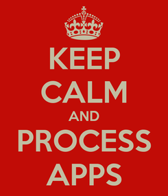 Poster: KEEP CALM AND PROCESS APPS