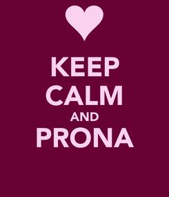 Poster: KEEP CALM AND PRONA