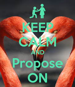 Poster: KEEP CALM AND Propose ON